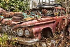 McLean's XXXXII (martinaschneider) Tags: old ontario fall abandoned car rust rockwood wreckers mcleans