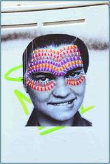 East End Yarnbombing (Mabacam) Tags: portrait streetart london pasteup wool paste wallart urbanart shoreditch stitching publicart eastend stiches 2015 villasana yarnbombing victoriavillasana