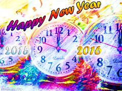 Happy New Year - 2016 (Lemon~art) Tags: happynewyear new year 2016 happy friends fun clocks time passing texture manipulation copyright