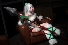 Snow Bunny Nidalee-15 (YGKphoto) Tags: christmas winter snow cold wisconsin costume cosplay outdoor lol convention kalahari league dells spear snowbunny 2015 animeconvention leagueoflegends daishocon nidalee