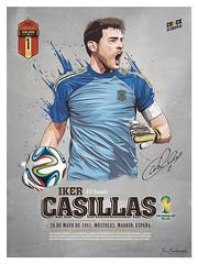 Iker Casillas (Fernando Taboada) Tags: madrid espaa art illustration spain soccer futbol vector ilustracion iker casillas goalkeeper portero