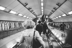 Rushing down. (Jordi Corbilla Photography) Tags: streetphotography bw blackandwhite london wwpw2016 nikon d750 jordicorbilla jordicorbillaphotography streetphoto