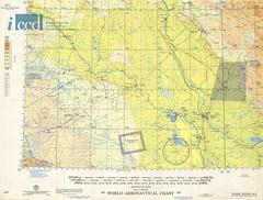 World aeronautical chart. 427: Tigris river : Iran-Iraq-Jordan-Saudi Arabia-Syria (Aerofototeca Nazionale - ICCD) Tags: cold war usaf aviation map cartography asia orient mesopotamia geography iraq