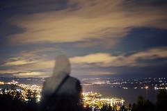 Autumn trough my eyes (MargitHylland) Tags: gjvik oppland norge norway mjsa lake innsj hst haust herbst fall autumn night girl sweather grey sky