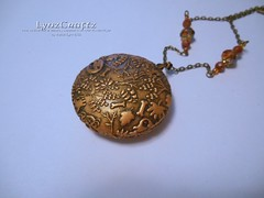 The Golden Hollow (LynzCraftz) Tags: polymerclay resin pendant jewelry necklace oneofakind handmade