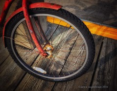 On the Pier, Provincetown, MA (augenbrauns) Tags: creativecapecod olympusomde1 painterly wheel bike bicycle pier ptown provincetown