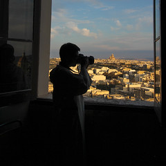 The View from Citadella (Lawrence OP) Tags: citadella gozo malta cathedral view photographer dominican friar silhouette