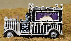 Bone Hearse (TaglessKaiju) Tags: halloween miniature toy photography lemax 2016 bones skeletons spooky town ossuary vehicle funny driver skulls holiday autumn equinox september