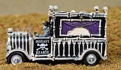 Bone Hearse (TaglessKaiju) Tags: halloween miniature toy photography lemax 2016 bones skeletons spooky town ossuary vehicle funny driver skulls holiday autumn equinox september
