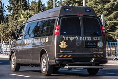 297947-Z Rear (rOOmUSh) Tags: chevrolet brown idf peresbodytransfer savana strobe shimonperes funeral motorcades