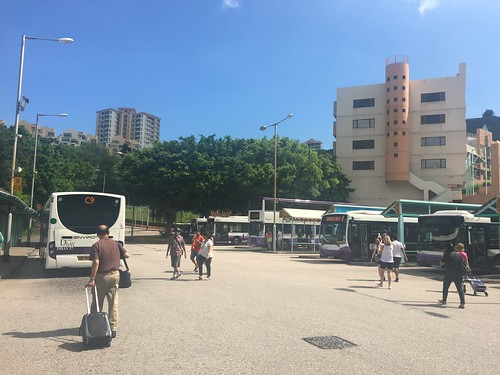 Bus terminus in Discovery Bay Pier