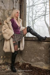 Model_A in Deserted Hotel (AleEstmodusinrebus?) Tags: decay abbandono hairblonde miniskirt miniskirts boots stivali windows outdoor autumn autunno deserted hotel woman girl legs lines costume wald hood wow tree fog cloud room neck necklace trees old house building nebbia fallwinter2016 people luoghi luoghiabbandonati albergo abbbandonato lillac black white brown leaf foglia modella shooting model models photoshooting shoot fotografico set location beauty beautiful tartan sexy emotional photo picture minigonna alessandrophotographeryahooit alessandrophotographer grey lady ladies friends femme dame mademoiselle mannequin alessandrophotographerge modela hotgirl