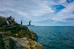 Forty Foot (t-a-i) Tags: grii ricohgrii jump dalkey ireland summer ricohgr2 dublin sea sandycove fortyfoot gr2 ricoh countydublin ie