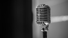 Microphone (DC P) Tags: microphone vintage old music sound singing recording mono monochrome classic beautiful black blackandwhite blackwhite blackwhitepassionaward blanco blanc noir bw bokeh design grey eos 50mm 14 pov white art object lines connect report studio