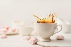 Morning light (SeattleHVAC172) Tags: coffee morning fresh lifestyle white pink splash peace sweets relaxation dessert tranquility comfort marshmallow meringue whiteonwhite