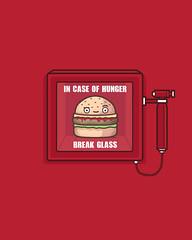Hunger (randyotter) Tags: art design illustration cool fun drawing digital randyotter clever puns cute colour