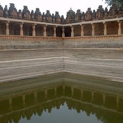 Reflections in the sacred tank (VinayakH) Tags: bhoganandeeshwaratemple karnataka india temple nandihills chikkaballapura chola ganga hoysala tipusultan religious historic
