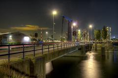 Piekbrug by night (R. Engelsman) Tags: piekbrug feijenoord rotterdam rotjeknor 010 netherlands nederland holland nl hdr brug bridge nacht night water city stad waterfront architecture infrastructure