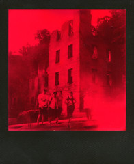 New Manchester Mill Ruins (This Is A Wake Up Call) Tags: polaroid slr680se duochrome red black roidweek2016 autumn hike