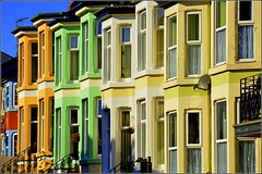 Street of many colours (New Brighton, Wirral) 16th October 2016 (Cassini2008) Tags: newbrighton wirral colours