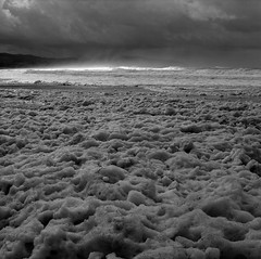 After a Storm, Oregon (austin granger) Tags: oregon storm coast seafoam stormlight pacificcity rain correspondence film square gf670