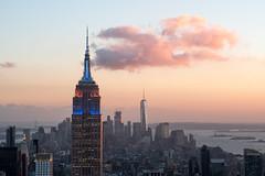 Empire State Building, New York (Sunny Herzinger) Tags: fujixpro2 xf56mm newyork usa america sunset rockefellercenter city unitedstates us