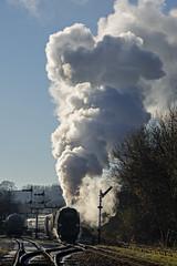 Ramsbottom City of Wells Santa (Nigel Gresley) Tags: 34092 city wells ramsbottom east lancashire railway steam locomotive exhaust frost semaphore signal sillhouette
