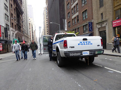 Parade Day Ghost Streets New York November 2016 (1160) (Richie Wisbey) Tags: ghost streets new york quiet closed off crosstown traffic macys polie policing sand trucks cops nypd guns protect serve felt safe best force earth excellent logistical nightmare empty scenes richard wisbey flickr usa exploring explored