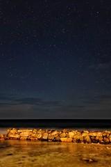 Deep and Dark ('SandFlash) Tags: maldives blue dark sky ocean indian island paradise stars exposure night galaxy waves stones lagoon light fuji x100s gorillapod vacation romantic