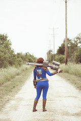 Vault 111 Cosplay (TheLadyFace) Tags: vault111 fallout cosplay costume pinup makeup classic vintage photography photoshoot pipboy bethesda adventure canon portraiture
