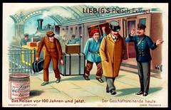Liebig Tradecard S801 - The Business Traveller in 1904 (cigcardpix) Tags: tradecards advertising ephemera vintage liebig chromo