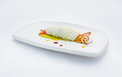 Cannolo di Calamaro Scottato su Crema di Peperone (lacookagency) Tags: photoshoot still life chef food dish white restaurant styling squid sicily background lacookagency gourmetidentity foodstyle