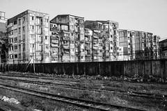 (kuuan) Tags: manualfocus mf ltm m39 canon rangefinder f14 50mm 1450 f1450mm canonltmf1450mm ilce7 a7 sony smile shy train yangon myanmar apartementhouses housing bw railwaytracks