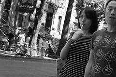 blind spot (edwardpalmquist) Tags: manhattan newyork blackandwhite monochrome travel people man woman city street urban outdoors food