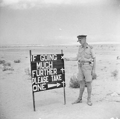 #If going much further please take one.. sign posted on the road to El Alamein by Australian troops September 14th 1942. [736x730] #history #retro #vintage #dh #HistoryPorn http://ift.tt/2fYlx89 (Histolines) Tags: histolines history timeline retro vinatage if going much further please take one sign posted road el alamein by australian troops september 14th 1942 736x730 vintage dh historyporn httpifttt2fylx89