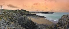 Sunset à Rotheneuf (David-Martinelli-Photos.net) Tags: bzh breizh bretagne rotheneuf sunset coucherdesoleil plage sable couleur mer océan