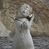 the girl with the shell (barfi*) Tags: sculpture pottery stoneware