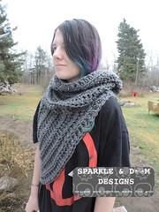 Huntress Hooded Cowl 02a (zreekee) Tags: crochet sparkledoomdesigns saskatchewan hungergames cowl