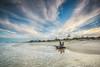 Zen (Beth Wode Photography) Tags: sunset beach seascape sand waves clouds streakyclouds timber wood fingal fingalbeach blue beth wode bethwode
