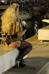 Every body loves a McFlurry (KevinWatson.net) Tags: spain august 2016 ibiza eivissa town daltvila port puertodeibiza mcflurry thong transvestite latex body corset stockings