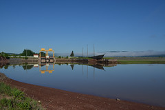 Shepody Dam (James P. Mann) Tags: shepody dam harvey new brunswick tidal water high tide blue sky