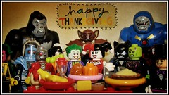 Thanks (LegoKlyph) Tags: lego custom dccomics dc villains comicbook joker twoface monsters noheroes holiday thanksgiving feast