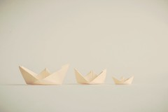 Row row row your boat ... (Ayeshadows) Tags: paper boats creamy peachy soft tones
