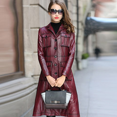 70s Style PU Leater Trench (betrenchcoated) Tags: pu leather trenchcoat trench buttons beautifulgirl singlebreasted ledermantel regenmantel raincoat