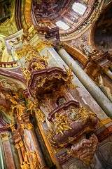 religious bling (khrawlings) Tags: religious bling praha prague church baroque pulpit roman catholic malstrana lessertown saintnicholas roof dome rococo