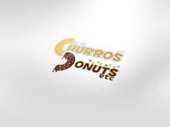 Logo mockup (Nkhansays) Tags: corporate branding menu food desert yummy creative business card logo mockup catchy donuts churros