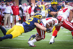 IMG_8224 (samiistoloff) Tags: football michigan michiganfootball maize umich emotion jimharbuagh jumpman uofmich theteam ncaa nike bigten bigtennetwork btn btnxtakeover blue harbuagh celebration wolverines class project aptop25 rain jordan photographer si110 sports likes photos white red photo indiana hoosiers jakebutt snow