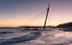 Hohwacht - Sea platform (Stefan Sellmer) Tags: schleswigholstein d750 landscape winter germany outdoor balticsea stones waves morning colorful flunder longexposure balticcoast twilight beach hohwacht seascape sunrise coast light seaside deutschland de