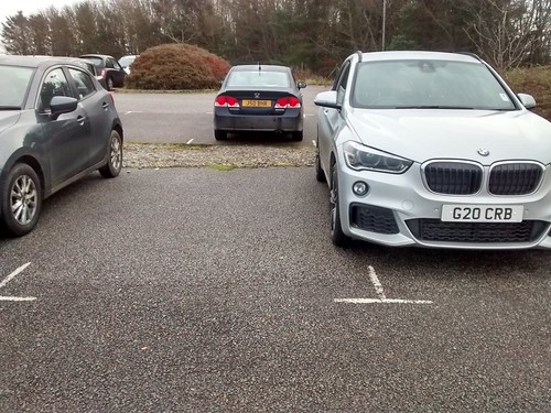 G20 CRB -- inconsiderate parking. This driver does this every day.