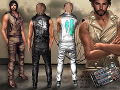 MIRUS My Way Men's Complete Outfit w Hud AD (V1CT0RIA) Tags: new summer men leather us shoes pants release bdsm stamp jacket marketplace hud punky